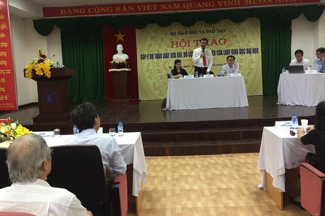 Bộ GD-ĐT tổ chức Hội thảo góp ý Dự thảo Luật Sửa đổi, bổ sung một số điều của Luật Giáo dục ĐH với sự tham gia của đại diện nhiều trường đại học khu vực phía Nam
