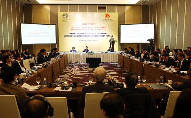 Hội thảo nhằm tìm ra hướng thiết kế chế độ tiền lương phù hợp với điều kiện của Việt Nam