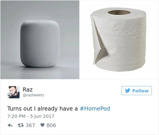 Có vẻ như theo nhận định của nhiều người, chiếc loa sở hữu mức giá rất apple này có vẻ ngoài không khác một cuốn giấy vệ sinh là mấy.