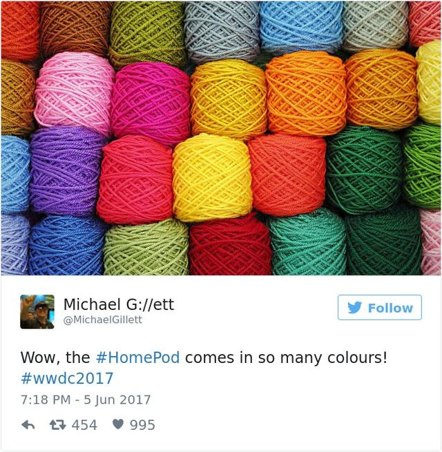 Một tài khoản khác thậm chí còn tìm ra những phiên bản đầy màu sắc của HomePod.