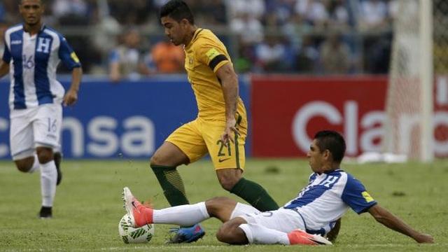 Australia hoà Honduras trên sân đối phương