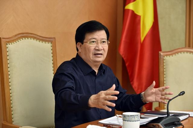 Phó Thủ tướng Trịnh Đình Dũng yêu cầu tháo gỡ khó khăn cho các dự án trọng điểm.