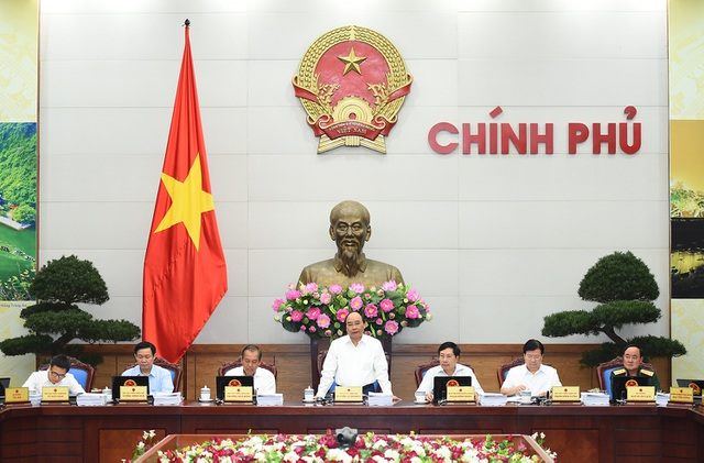 Chỉ đạo tại phiên họp, Thủ tướng yêu cầu bàn về con số cụ thể, không nói chung chung, vô thưởng vô phạt (ảnh: VGP)