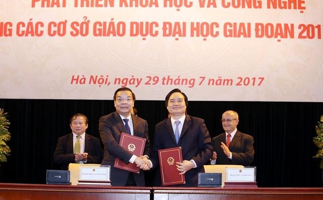 Lễ ký kết Chương trình phối hợp công tác giữa Bộ KHCN và GD&ĐT giai đoạn 2017-2025.