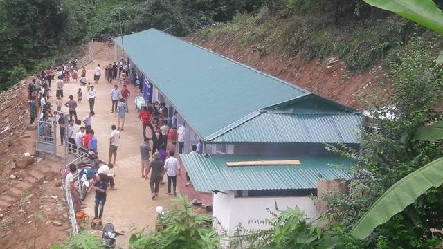 Toàn cảnh điểm trường Hua Mức 1 (thuộc trường tiểu học Pú Xi) xã Pú Xi, huyện Tuần Giáo - Điện Biên vừa được khánh thành ngày 11/8/2017