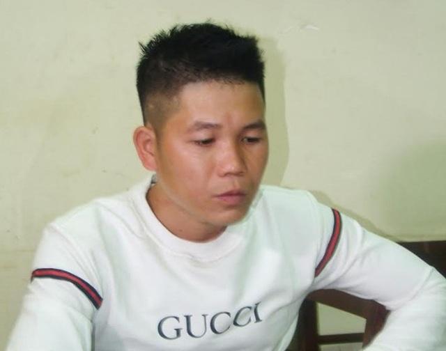 Nghi phạm Nguyễn Quang Hưng tại cơ quan điều tra (ảnh: CAND)