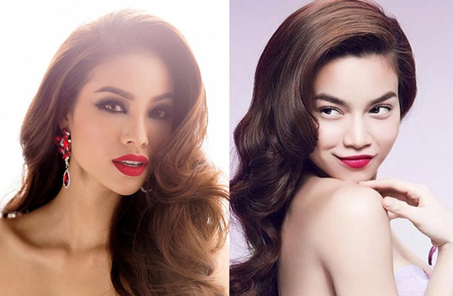 """Cả hai mỹ nhân này đều gây ấn tượng với công chúng bởi gu thời trang sành điệu, """"sang chảnh"""" cùng mái tóc xoăn bồng bềnh thu hút."""