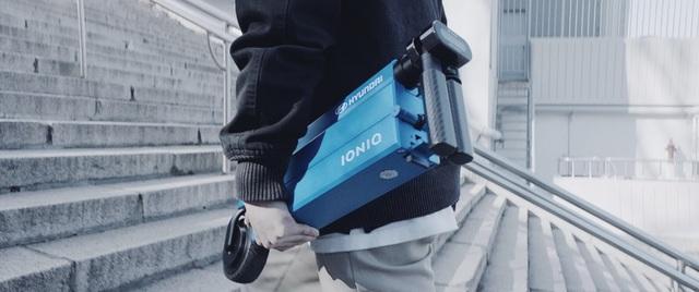 Ioniq Scooter nổi bật với thiết kế gọn và có thể gập gọn để mang theo người thuận tiện