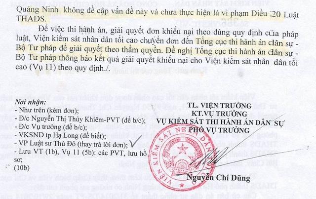 """VKSND Tối cao đề nghị Tổng cục thi hành án xử lý vụ thi hành án kiểu """"sống chết mặc bay""""."""