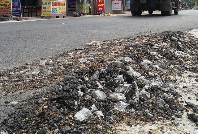 Đoạn đường được đầu tư hơn 20 tỷ để sửa chữa lại xuống cấp