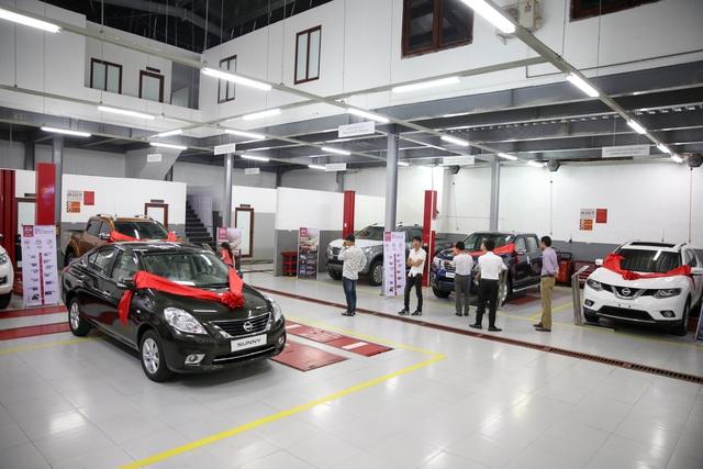 Khu vực xưởng dịch vụ của Đại lý Nissan Lào Cai