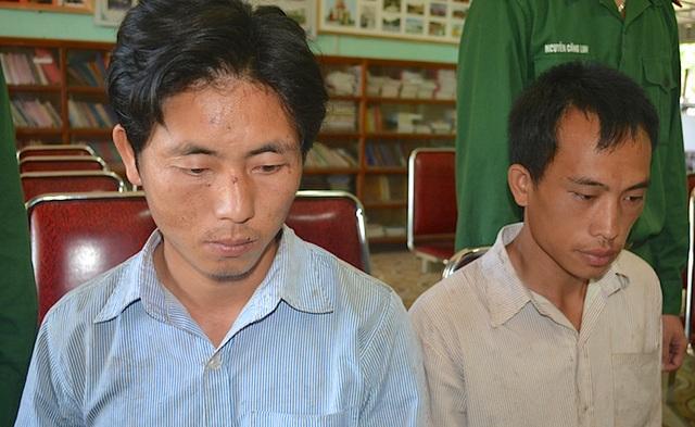 2 đối tượng người Lào là: Thò Chá Lỳ và Thò Dua Dìa bị bắt.