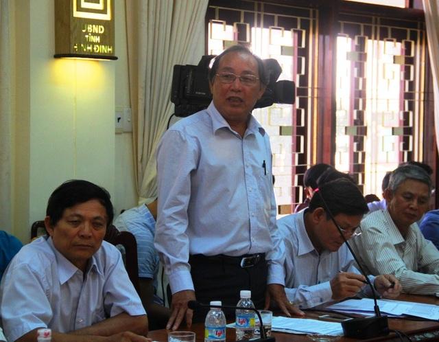 Ông Hà Ngọc Tân, Phó Chủ tịch UBND huyện Phù Mỹ (Bình Định) thấy hối hận và tự nhận trách nhiệm vì đã giới thiệu đơn vị đóng tàu là Công ty TNHH MTV Nam Triệu khiến ngư dân khốn đốn