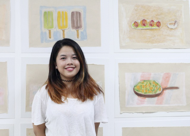 Nữ sinh 9x Phạm Phương Thảo là tác giả triển lãm tranh quảng bá ẩm thực Hà Nội này
