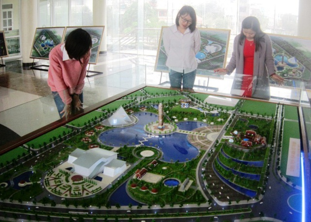 Mô hình phối cảnh Công viên Văn hóa xứ Thanh