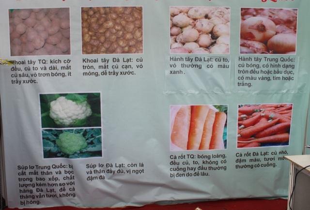 Một số điểm nhận diện hàng nông sản Đà Lạt và nông sản Trung Quốc
