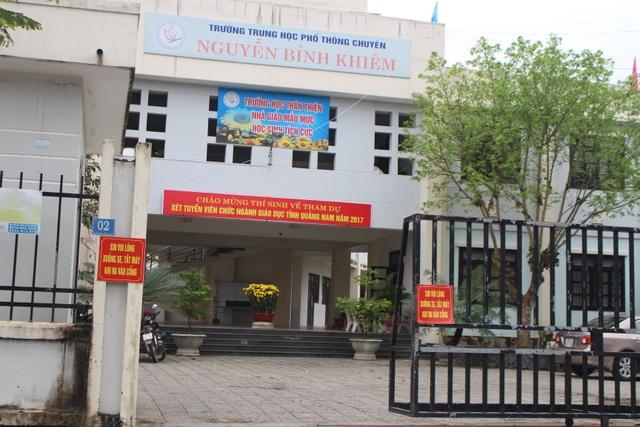 Điểm thi tuyển giáo viên tại trường THPT Nguyễn Bỉnh Khiêm, TP Tam Kỳ