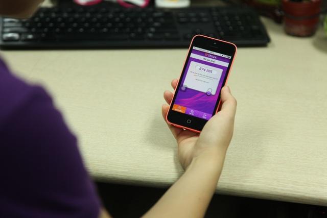 Mã OTP trên ứng dụng eToken được thay đổi 1 phút 1 lần