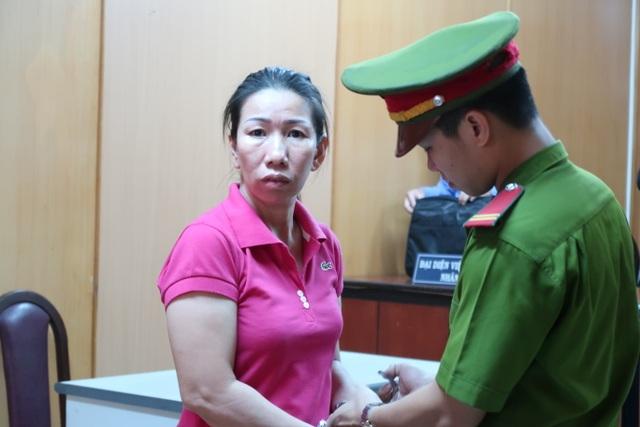 Bị cáo Hạnh tại phiên tòa.