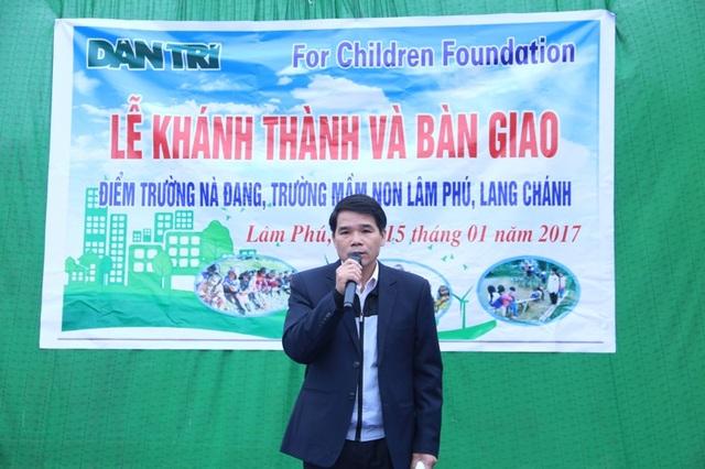 Ông Lữ Đức Chung - Phó chủ tịch UBND huyện Lang Chánh phát biểu