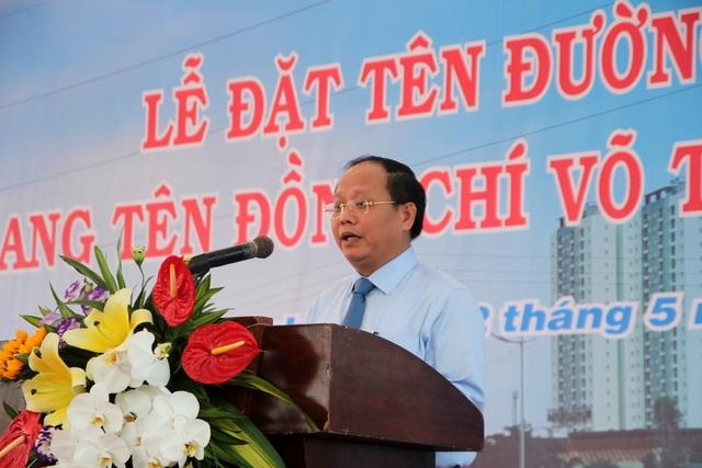 Phó Bí thư thường trực Thành ủy TPHCM Tất Thành Cang điểm lại quá trình hoạt động cách mạng của ông Võ Trần Chí