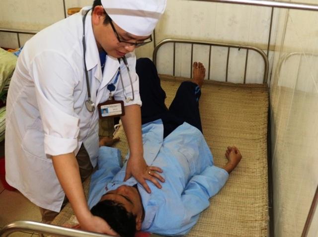Bệnh nhân N.Đ.N. đang được theo dõi tại Khoa Truyền nhiễm Bệnh viện Đa khoa tỉnh Thanh Hóa