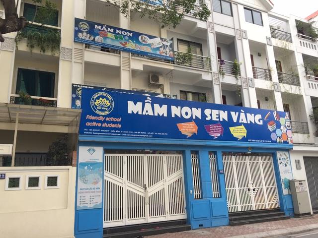 Nhóm lớp mầm non Sen Vàng tạm đóng cửa trong ngày 6/2 (ảnh: Mỹ Hà)