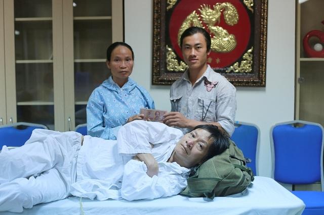 Chị Nguyễn Thị Tiến được nhận sự giúp đỡ từ gia đình là 15.000.000 đồng