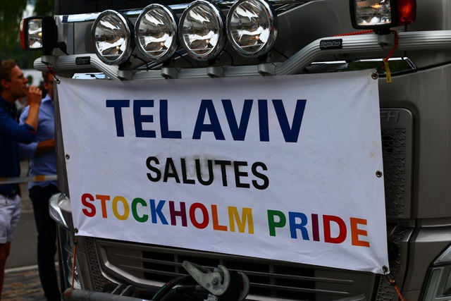 Đoàn của Israel tham gia Stockholm Pride 2017.