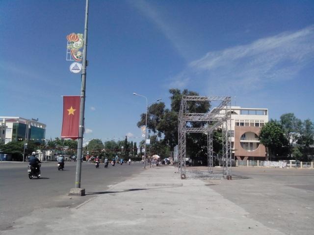Khu vực tổ chức Hội chợ Xuân
