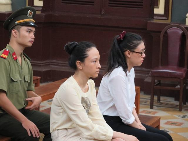 Hoa hậu Phương Nga tại phiên tòa trước.