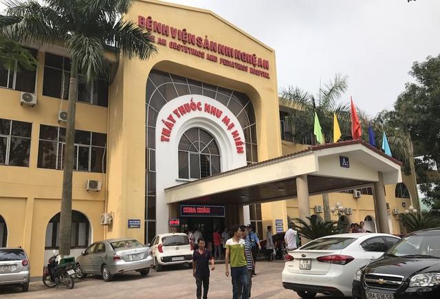 BV Sản Nhi Nghệ An - nơi cháu bé 8 tuổi đến từ Hà Tĩnh chết đột ngột khiến người nhà bức xúc.
