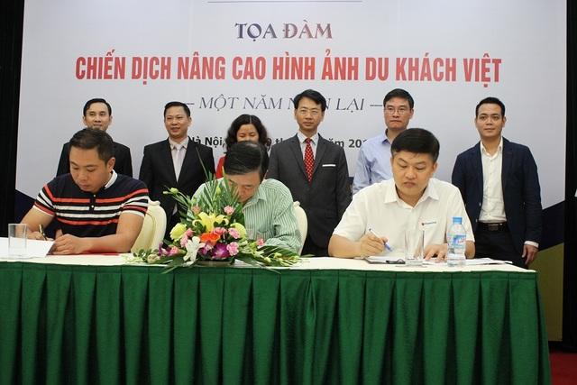 Tại hội thảo các doanh nghiệp tham gia ký kết văn bản cam kết thực hiện văn minh du lịch