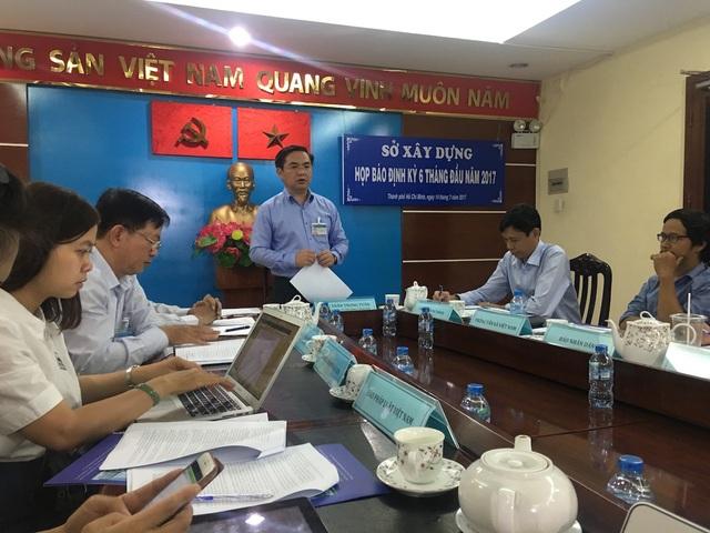 Ông Trần Trọng Tuấn, Giám đốc Sở Xây dựng TPHCM cho biết sẽ nghiên cứu, xin ý kiến của Bộ Xây dựng về việc cấp phép xây dựng phần móng trước