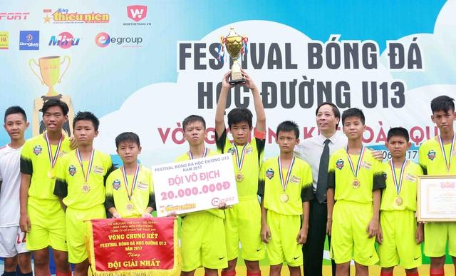 Thành Lương choáng ngợp trước bầu không khí của Festival bóng đá học đường - 2