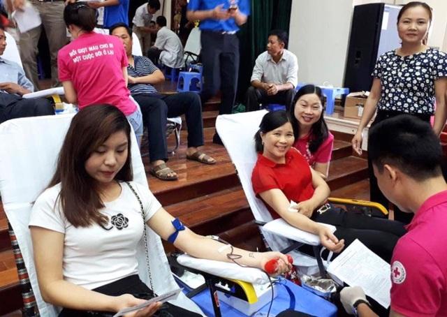 Ban tổ chức đã thu được 889 đơn vị máu trong ngày hội hiến máu tại huyện Thọ Xuân