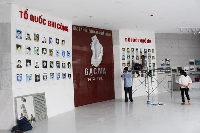 Bảo tàng ngầm Gạc Ma tại Khu tưởng niệm - nơi trưng bày các kỷ vật của liệt sĩ Gạc Ma do gia đình hiến tặng