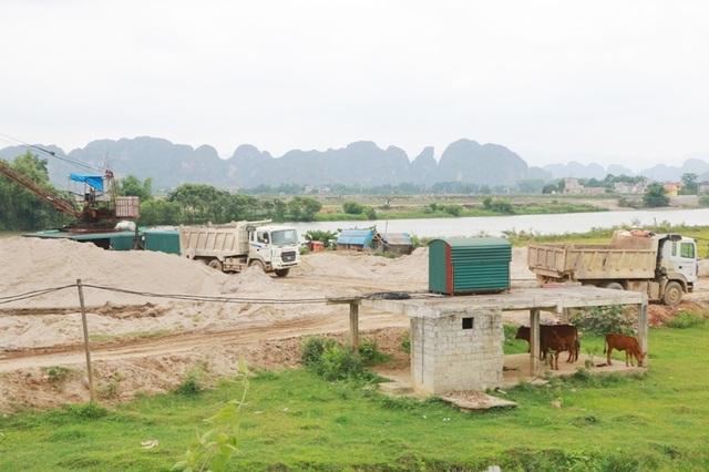 Bãi cát khủng tại xã Gia Phú đã bị cơ quan chức năng đình chỉ, yêu cầu di dời hết cát dừng hoạt động.