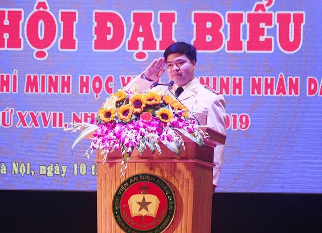 Bí thư Dương Xuân Khiêm - Đoàn thanh niên Học viện An ninh nhân dân nhiệm kỳ 2017 - 2019.