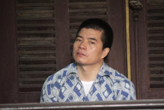 Bị cáo Chí tại phiên tòa.