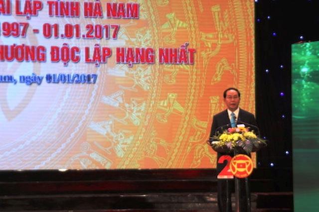 Chủ tịch nước Trần Đại Quang đề nghị Hà Nam cần tiếp tục thực hiện 3 đột phá chiến lược phát triển