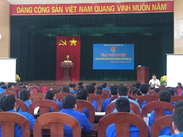 Các cán bộ đoàn tham gia trại huấn luyện 2017
