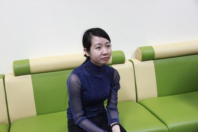 Cô giáo Thùy Linh, người đã đánh cháu Phương vào đùi gây thâm tím