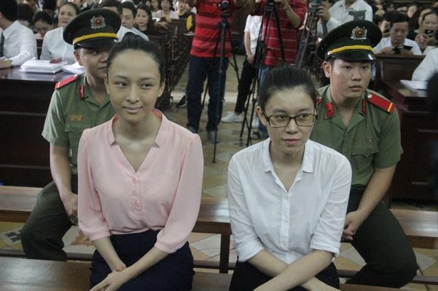Hoa hậu Phương Nga tại phiên tòa xét xử sơ thẩm lần 2.