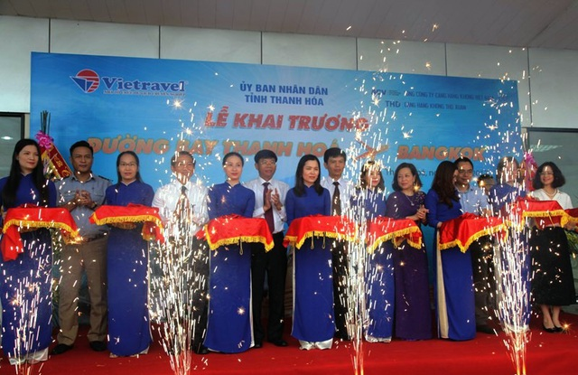 Khai trương đường bay Thanh Hóa - Bangkok