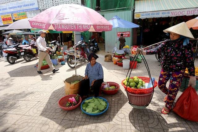 Hàng ngày, cụ Sáu Lên bắt xe bus từ Hóc Môn mang theo trầu cau lên để bán.