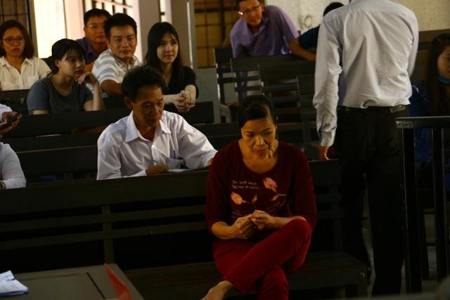 Bà Trương Thị Hoa tại phiên tòa sơ thẩm ngày 19/9