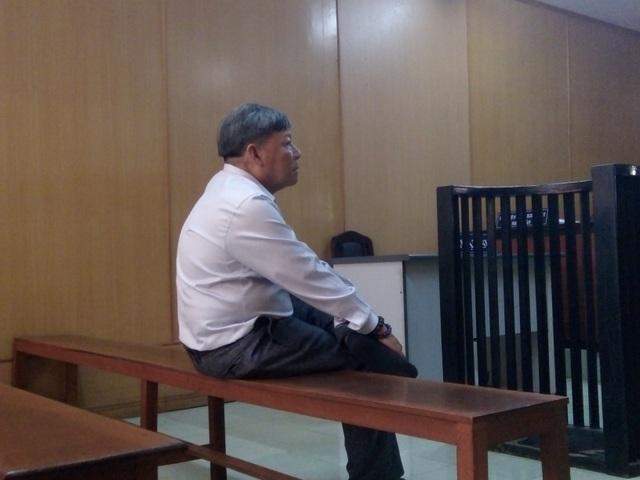 Bị cáo Tân tại phiên tòa.