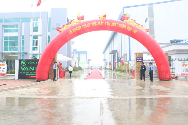 Công ty nhôm Vạn Lợi Bắc Ninh khánh thành nhà máy