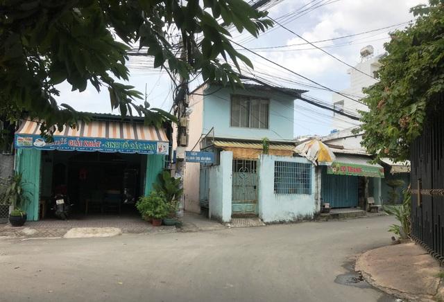 Khu vực xảy ra vụ chém người, cướp tài sản gần với trụ sở UBND quận 9 đang sửa chữa.